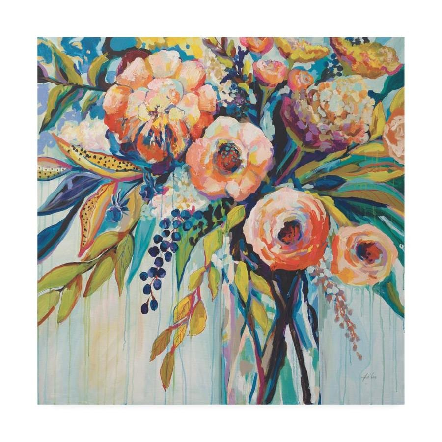 Trademark Fine Art Floral Framed 35 In H X 35 In W Floral Canvas Print In The Wall Art Department At Lowes Com