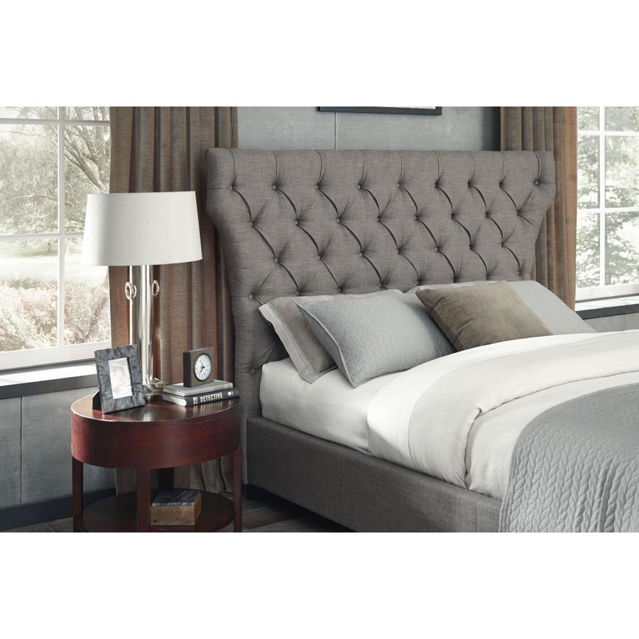 Modus Furniture Geneva Dolphin Queen Linen Upholstered Headboard In The Headboards Department At Lowes Com