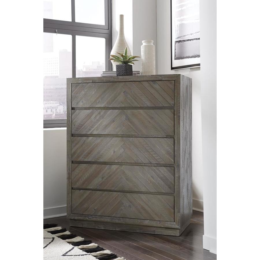 Modus Furniture Herringbone 5 Drawer Chest In The Chests Department At Lowes Com