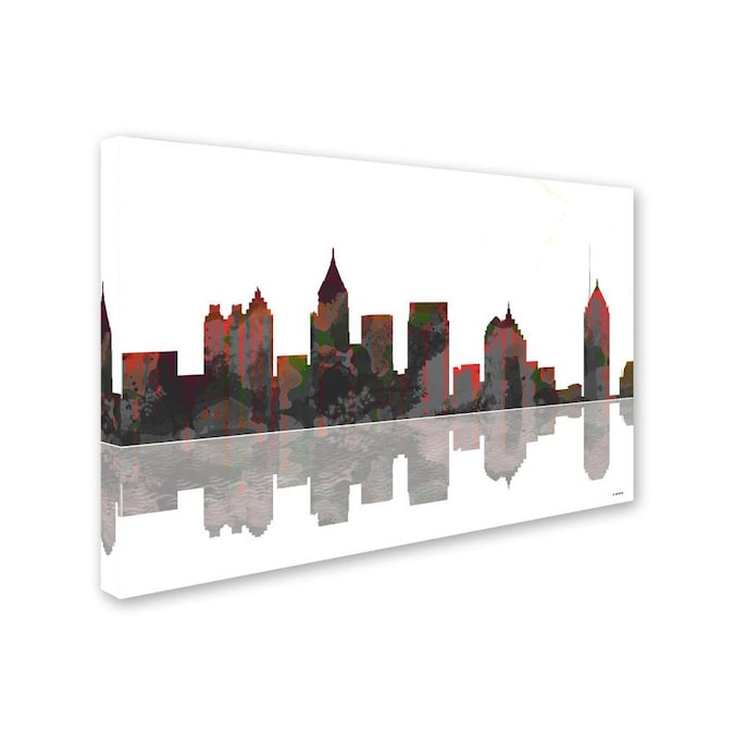 Trademark Fine Art Cityscapes Framed 30 In H X 47 In W Cityscape Canvas Print In The Wall Art Department At Lowes Com