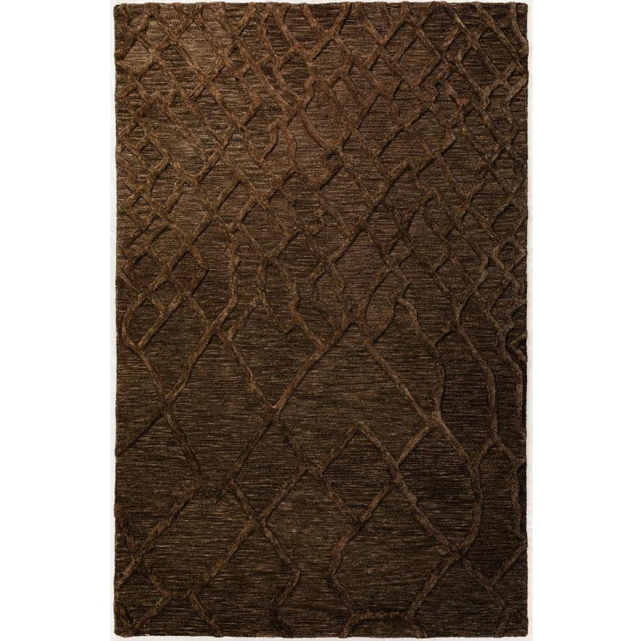 Addison Rugs Crest 9 X 13 Brown Indoor Solid Mid Century Modern Handcrafted Area Rug In The Rugs Department At Lowes Com