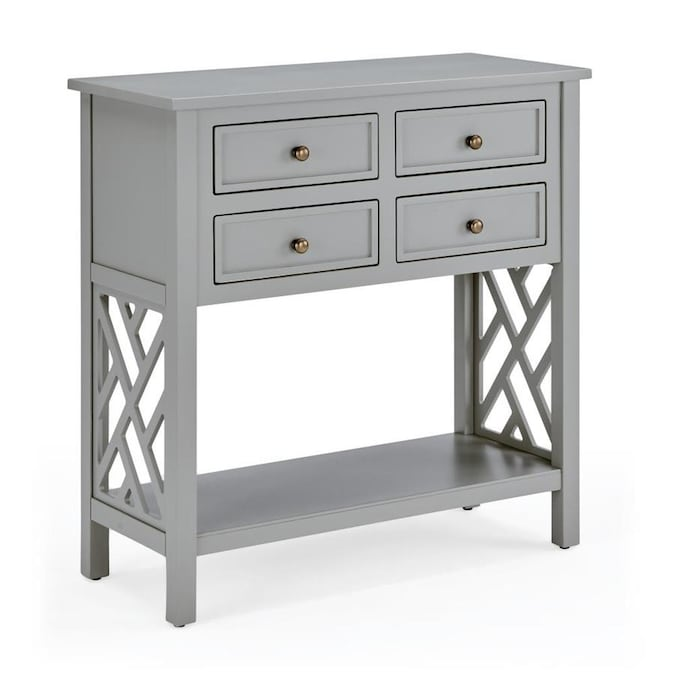 alaterre furniture coventry gray casual console table in