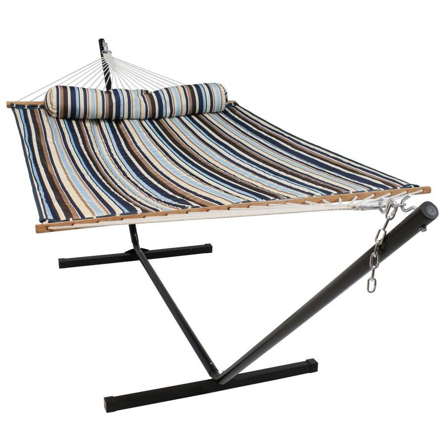 Sunnydaze Decor Ocean Isle Fabric Hammock With Stand In The Hammocks Department At Lowes Com