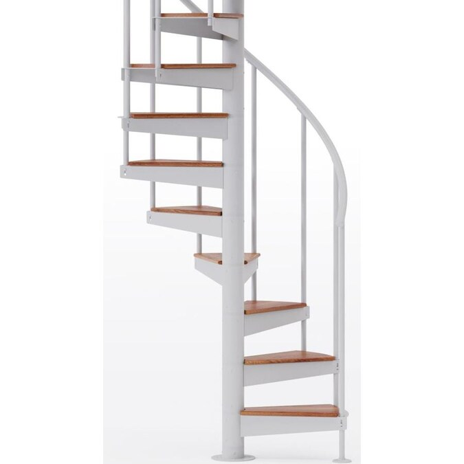 Mylen Stairs Condor White 42 In Diameter 13 Treads With 1