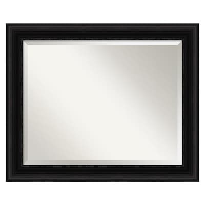 Amanti Art Parlor Black Frame Collection 33 5 In Satin Black Rectangular Bathroom Mirror In The Bathroom Mirrors Department At Lowes Com