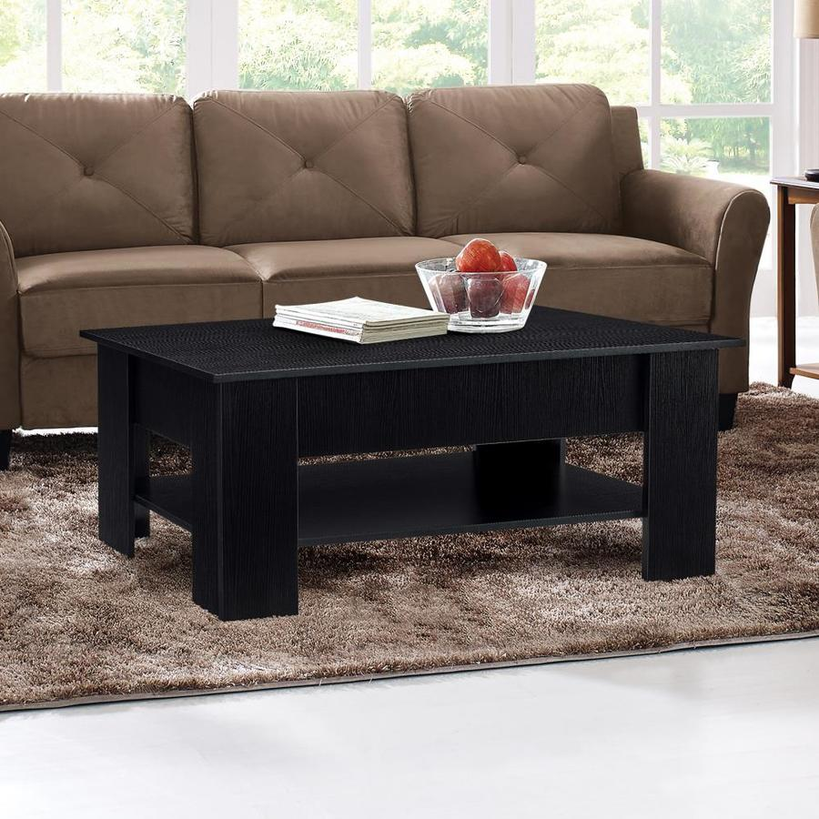 Lifestyle Solutions Carlsbad Black Wood Coffee Table In The Coffee Tables Department At Lowes Com