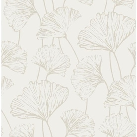 Nuwallpaper 30 75 Sq Ft Grey Vinyl Floral Self Adhesive Peel And Stick Wallpaper In The Wallpaper Department At Lowes Com