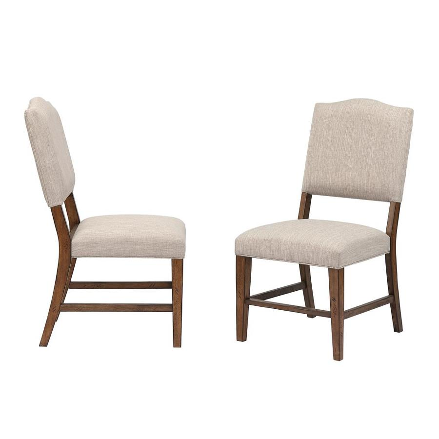 Sunset Trading Set Of 2 Simply Brook Country Polyester Polyester Blend Upholstered Dining Side Chair Wood Frame In The Dining Chairs Department At Lowes Com