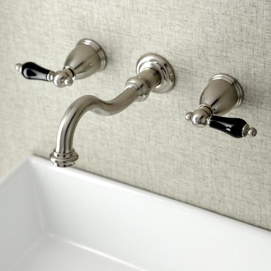 Kingston Brass Duchess Brushed Nickel 2 Handle Wall Mount Bathroom Sink Faucet In The Bathroom Sink Faucets Department At Lowes Com