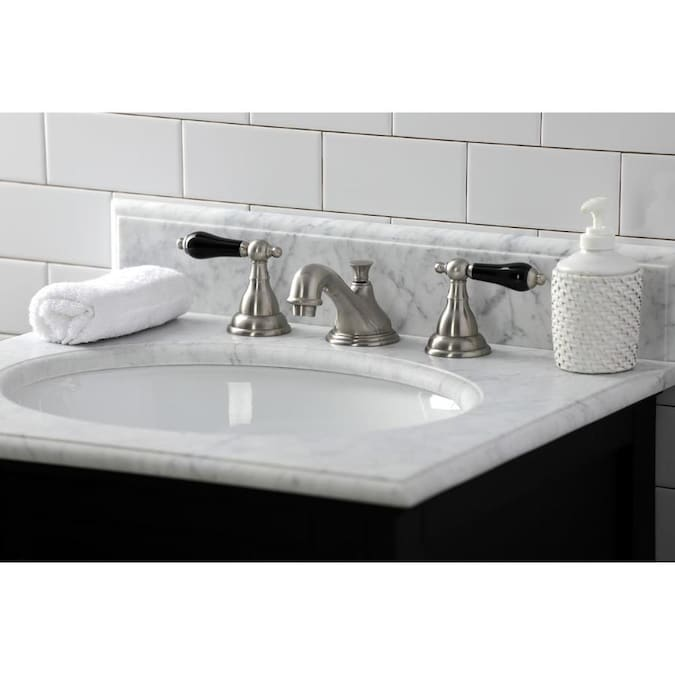 Kingston Brass Duchess Brushed Nickel 2 Handle Widespread Bathroom Sink Faucet With Drain In The Bathroom Sink Faucets Department At Lowes Com