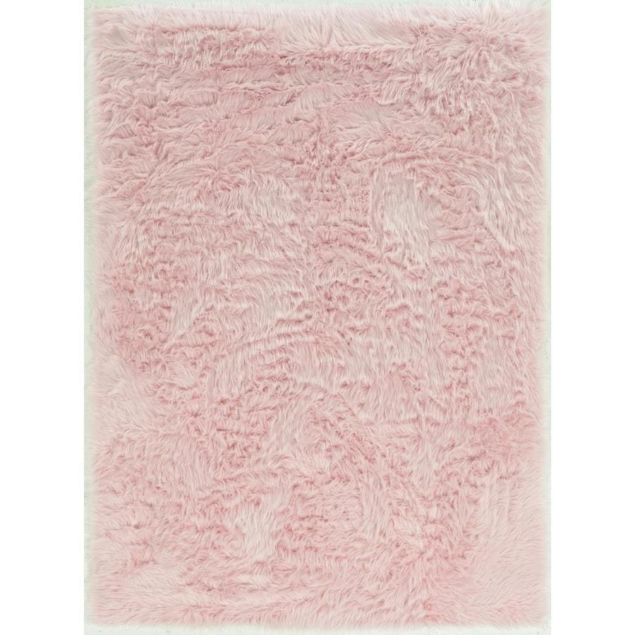 Linon Faux Sheepskin 3 X 5 Pink Indoor Solid Area Rug In The Rugs Department At Lowes Com