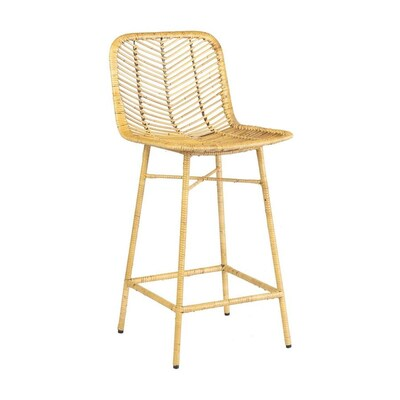 White Modern Desk Chair, Counter Height 22 In To 26 In Rattan Bar Stools At Lowes Com