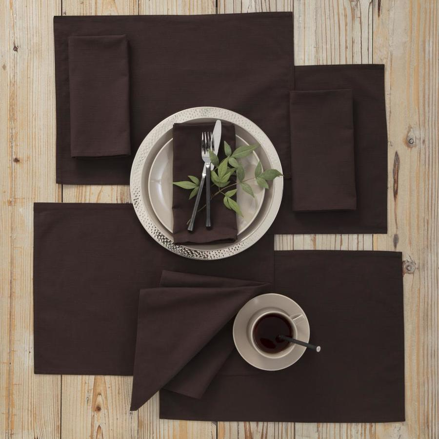 Westpoint Home Martex Color Solutions Table Linens Collection 4 Pack Chocolate Poly Rectangle Placemats In The Serveware Accessories Department At Lowes Com