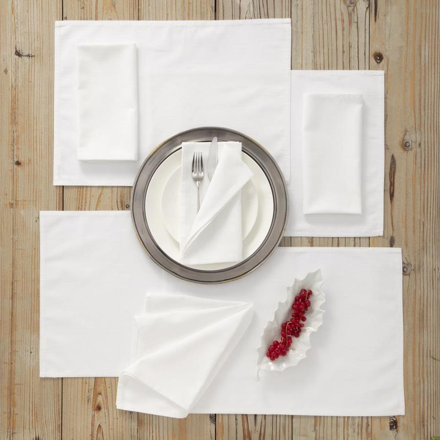 Westpoint Home Martex Color Solutions Table Linens Collection 4 Pack Ivory Poly Rectangle Placemats In The Serveware Accessories Department At Lowes Com