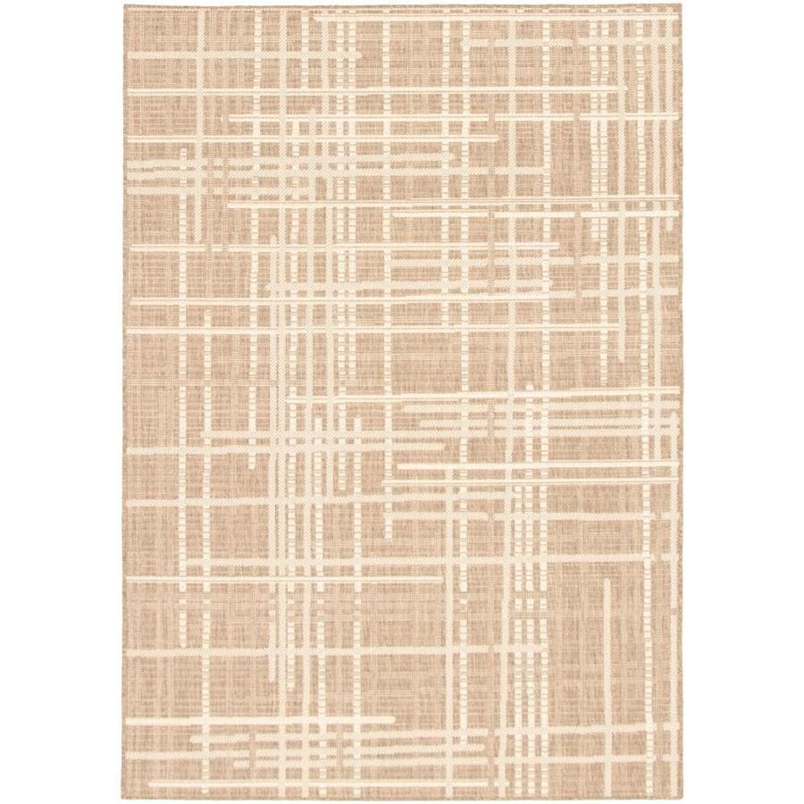 Ecarpetgallery Sisal Burburry 8 X 10 Taupe Champagne Bohemian Eclectic Area Rug In The Rugs Department At Lowes Com