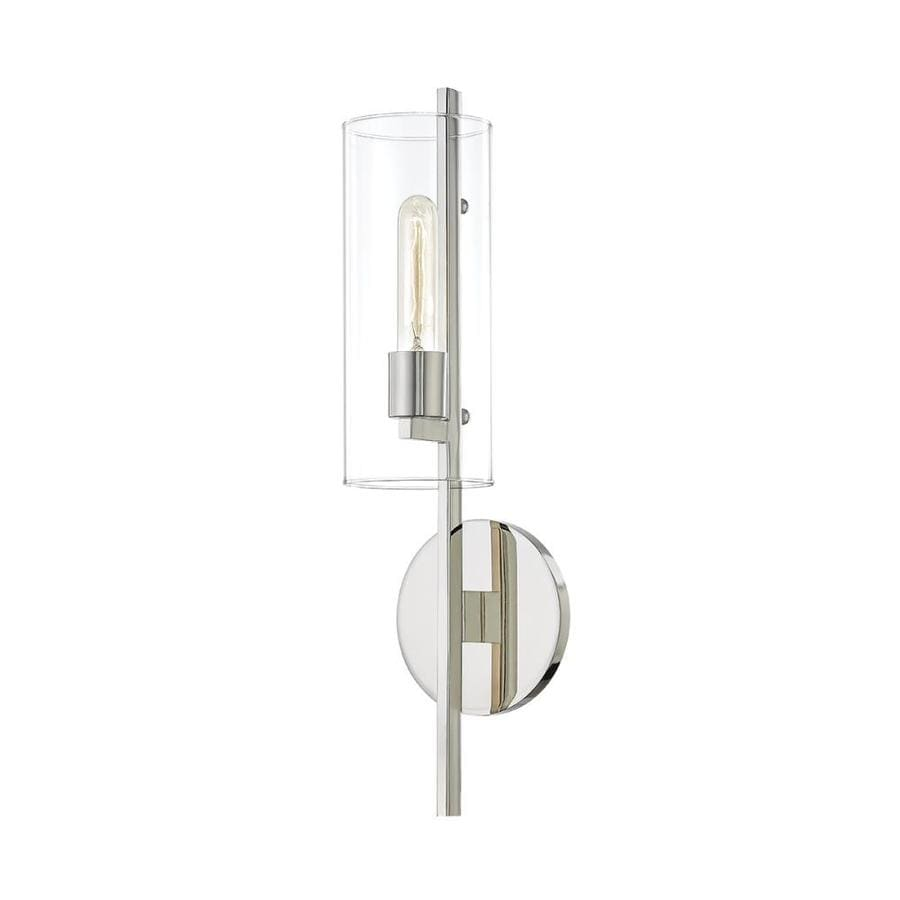 Mitzi By Hudson Valley Lighting Ariel 5 5 In W 1 Light Polished Nickel Modern Contemporary Wall Sconce In The Wall Sconces Department At Lowes Com