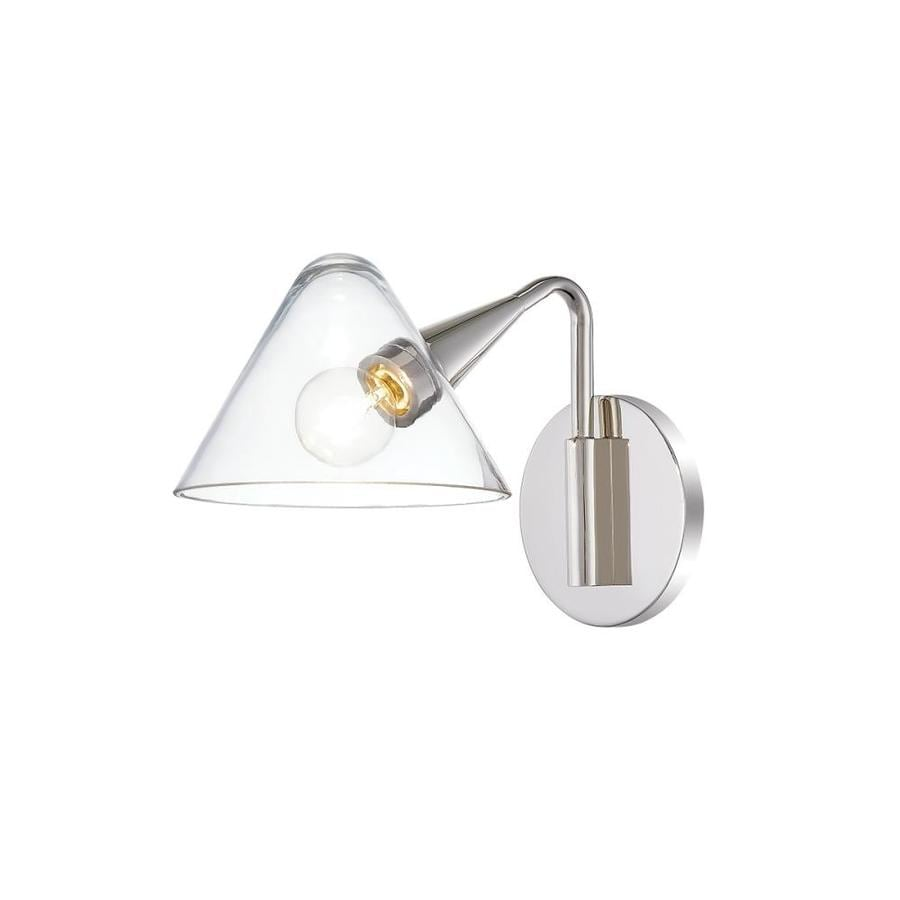 Mitzi By Hudson Valley Lighting Isabella 6 25 In W 1 Light Polished Nickel Transitional Wall Sconce In The Wall Sconces Department At Lowes Com