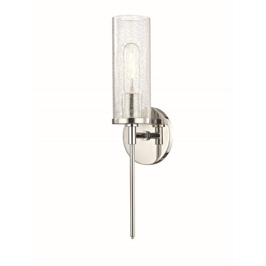 Mitzi By Hudson Valley Lighting Olivia 4 75 In W 1 Light Polished Nickel Modern Contemporary Wall Sconce In The Wall Sconces Department At Lowes Com