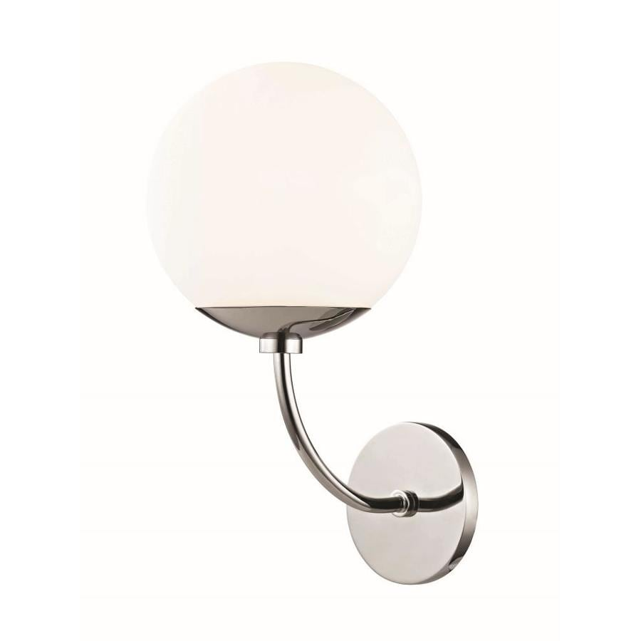 Mitzi By Hudson Valley Lighting Carrie 7 5 In W 1 Light Polished Nickel Modern Contemporary Wall Sconce In The Wall Sconces Department At Lowes Com