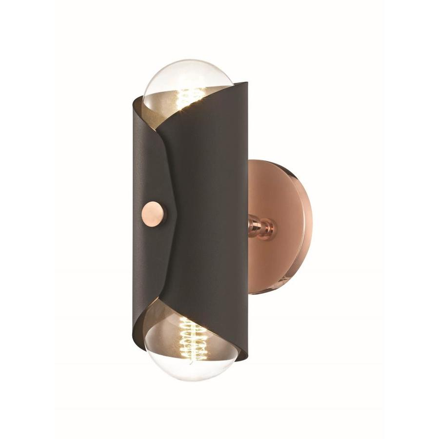 Mitzi By Hudson Valley Lighting Immo 4 75 In W 2 Light Polished Copper Modern Contemporary Wall Sconce In The Wall Sconces Department At Lowes Com