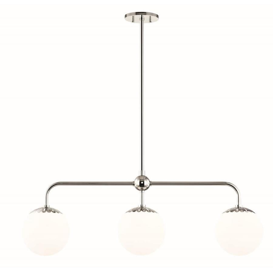 Mitzi By Hudson Valley Lighting Paige Polished Nickel Modern Contemporary Opal Glass Linear Kitchen Island Light In The Pendant Lighting Department At Lowes Com