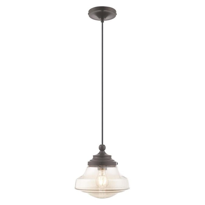 Livex Lighting Art Glass Mini Pendants English Bronze Transitional Tinted Glass Globe Mini Pendant Light In The Pendant Lighting Department At Lowes Com