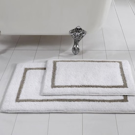 Amrapur Overseas Reversible Stripe Bath Runner 60 In X 22 In Cotton Bath Rug In The Bathroom Rugs Mats Department At Lowes Com