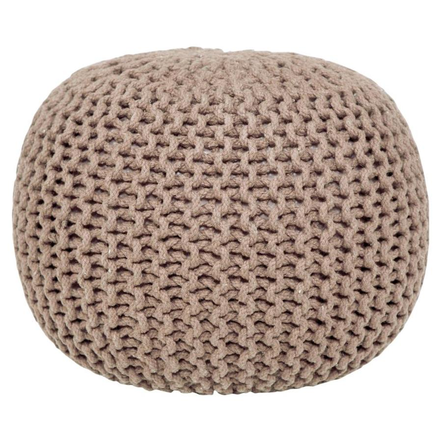 Aanny Designs Lychee Modern Light Beige Pouf Ottoman In The Indoor Ottomans Department At Lowes Com