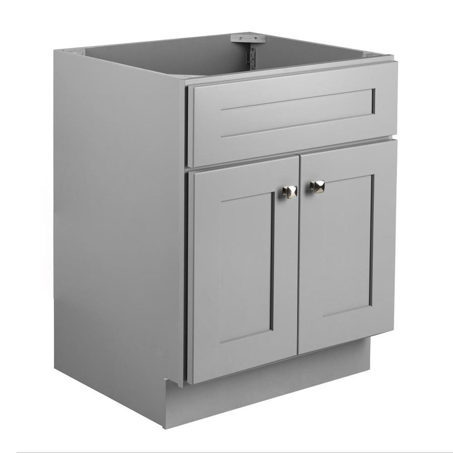 Design House Brookings 24 In Gray Bathroom Vanity Cabinet In The Bathroom Vanities Without Tops Department At Lowes Com