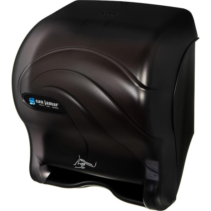 San Jamar San Jamar Roll Towel Hands Free Dispenser Roll Touchless Dispenser 1 X Roll 14 4in Height X 11 7in Width X 9 1in Depth Plastic Black Pearl Durable Impact Resistant Compact In The Paper