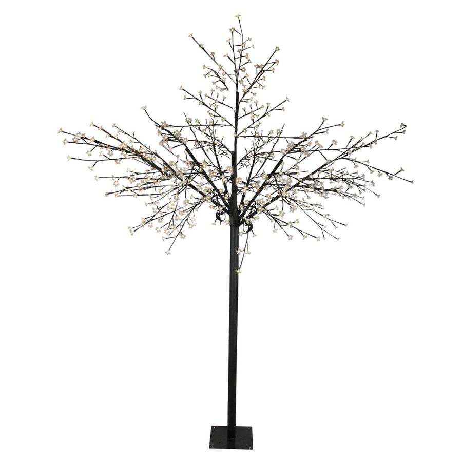 Northlight 8 Ft Multi Function Led Lighted Cherry Blossom Flower Tree Warm White Lights In The Outdoor Christmas Decorations Department At Lowes Com