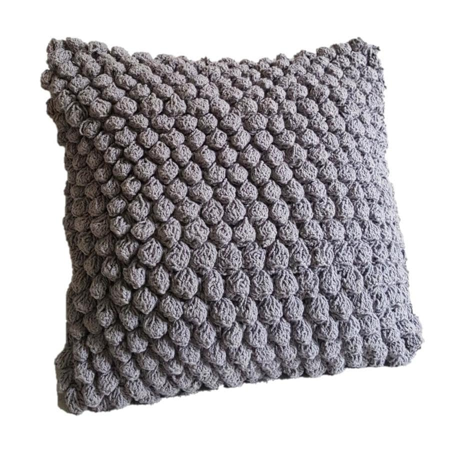 Aanny Designs Orbit 18 In W X 18 In L Gray Cotton Square Indoor Decorative Pillow In The Throw Pillows Department At Lowes Com
