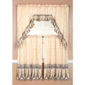 Rt Designers Collection Urban Embroidered Vegetable Tier And Valance Kitchen Curtain Set In The Valances Department At Lowes Com
