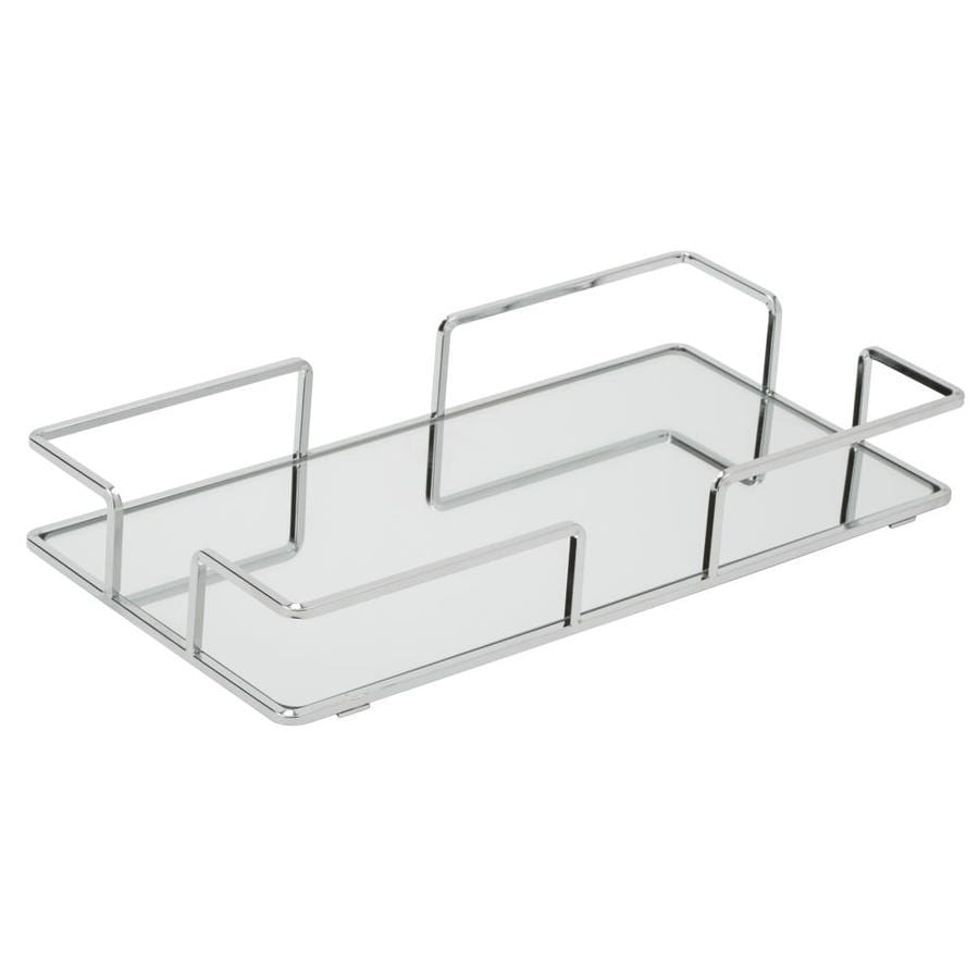 Home Details Trays Chrome Metal Vanity Tray In The Bathroom Accessories Department At Lowes Com