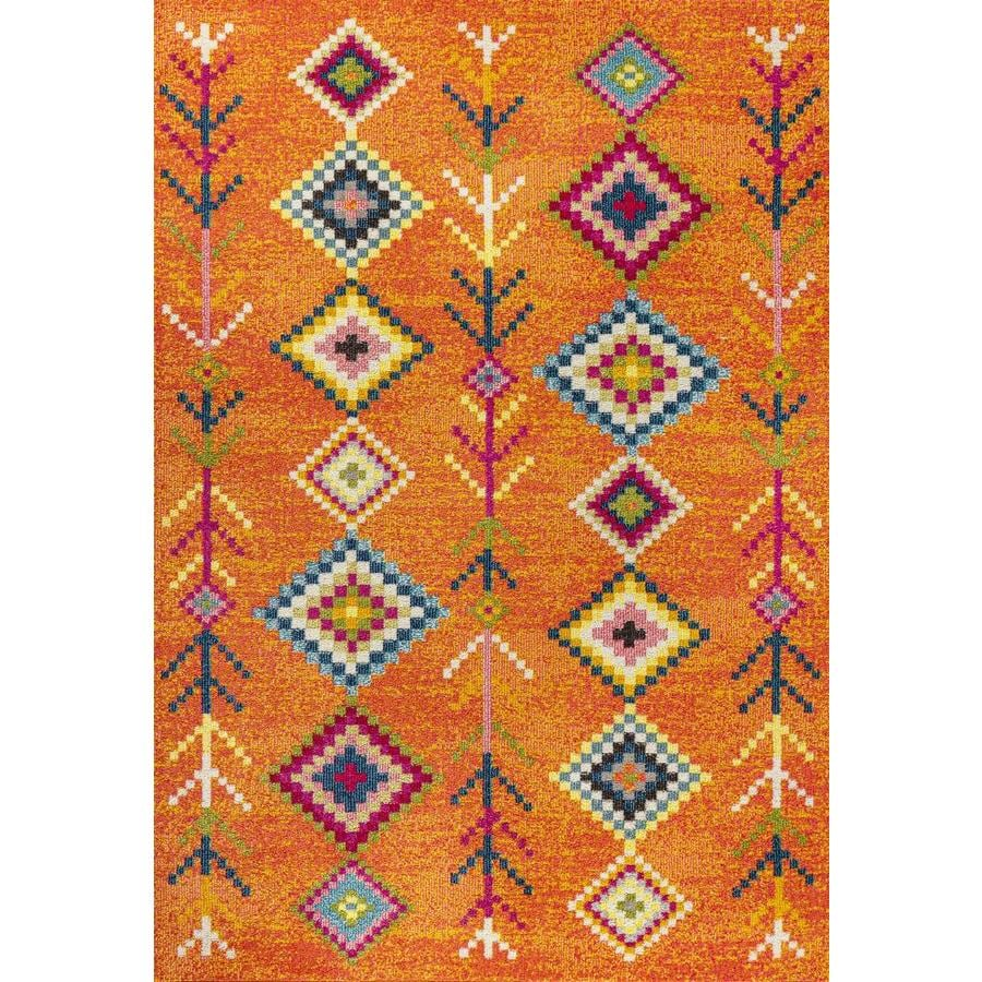 Jonathan Y Moroccan Hype 5 X 8 Orange Multi Indoor Area Rug In The Rugs Department At Lowes Com