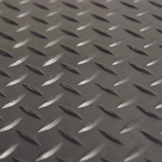 Rubber-Cal 48-in x 72-in Black Diamond Rubber Roll ...