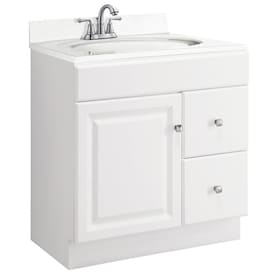 Design House Concord 30 In White Bathroom Vanity Cabinet In The Bathroom Vanities Without Tops Department At Lowes Com
