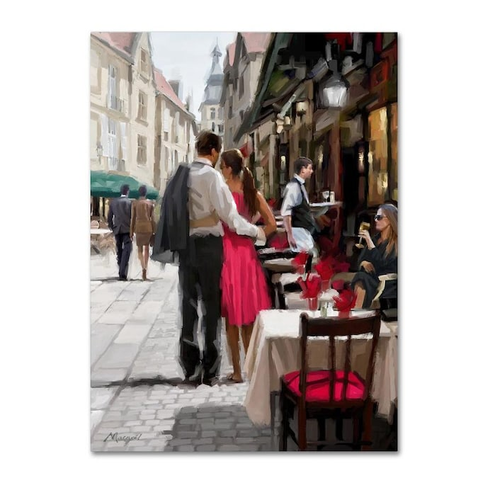 Trademark Fine Art The Macneil Studio Urban Couple 24x32 Canvas Art In The Wall Art Department At Lowes Com
