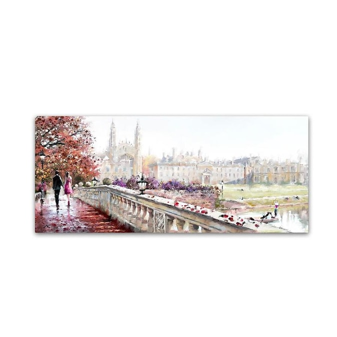 Trademark Fine Art The Macneil Studio Clare Bridge 20x47 Canvas Art In The Wall Art Department At Lowes Com