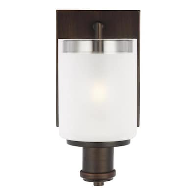 Sea Gull Lighting Norwood 5 In W 1 Light Burnt Sienna Transitional Wall Sconce Energy Star In The Wall Sconces Department At Lowes Com