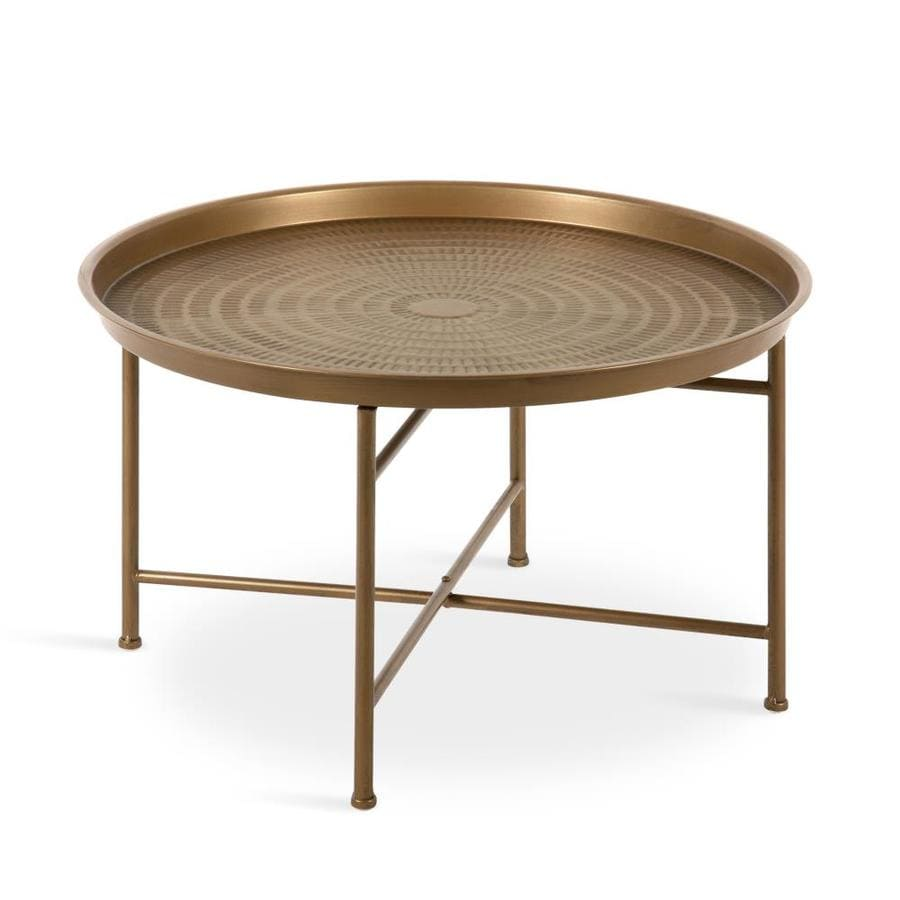 Kate And Laurel Mahdavi Gold Metal Coffee Table In The Coffee Tables Department At Lowes Com