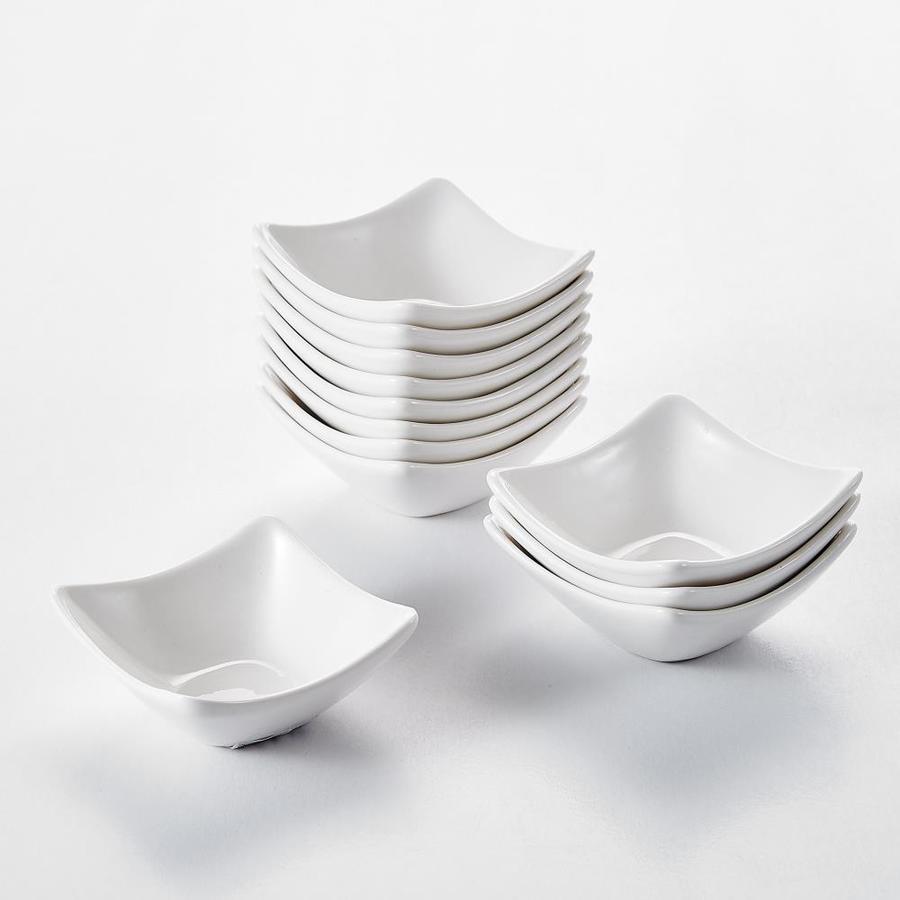 Malacasa Porcelain Ramekin Set 12 Bake Ware Reusable Eco Friendly Dishwasher Safe In The Bakeware Department At Lowes Com
