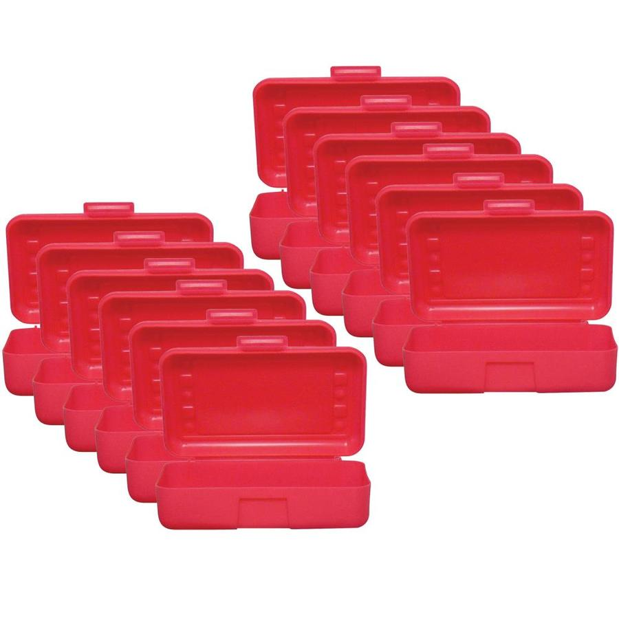 romanoff products pencil box red pack of 12 in the desktop organizers department at lowes com