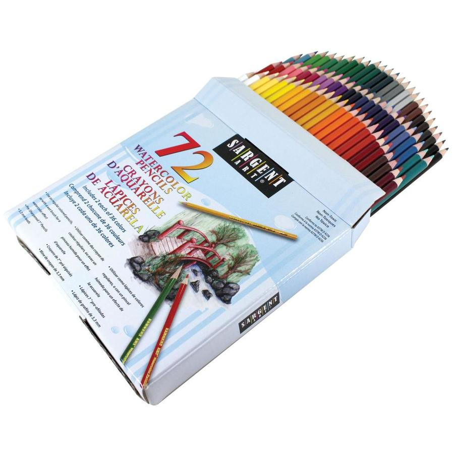 sargent art watercolor pencils 36 colors 72 count in the pens pencils markers department at lowes com