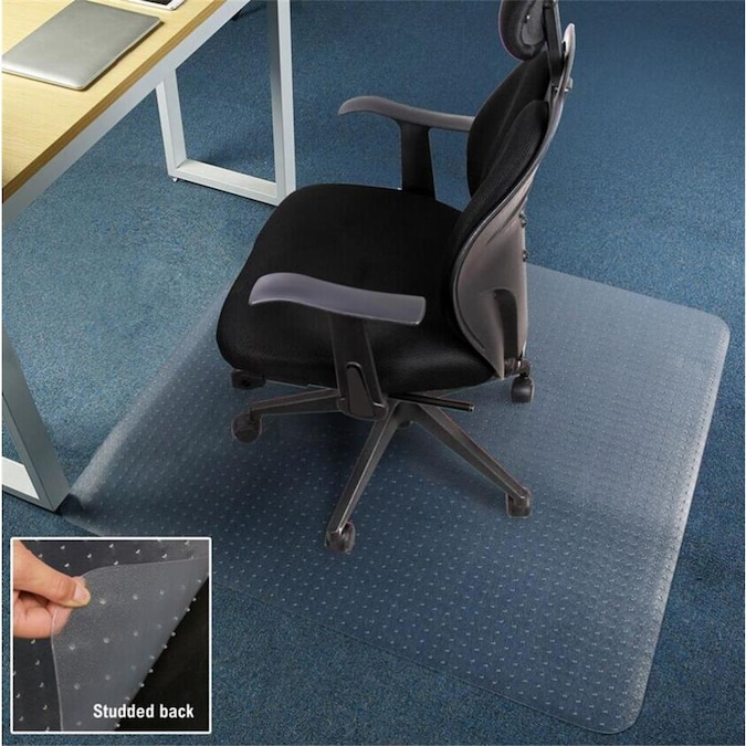 Direct Wicker Home And Office Mat Clear Rectangular Indoor Chair Mat In The Mats Department At Lowes Com