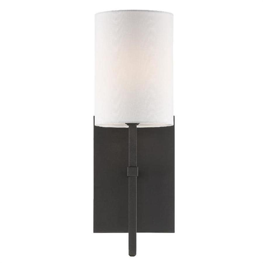 Crystorama Veronica 5 In W 1 Light Black Forged Modern Contemporary Wall Sconce In The Wall Sconces Department At Lowes Com
