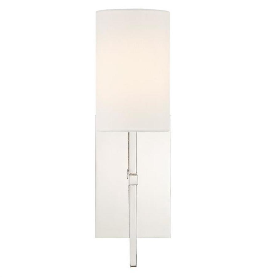 Crystorama Veronica 5 In W 1 Light Polished Nickel Modern Contemporary Wall Sconce In The Wall Sconces Department At Lowes Com