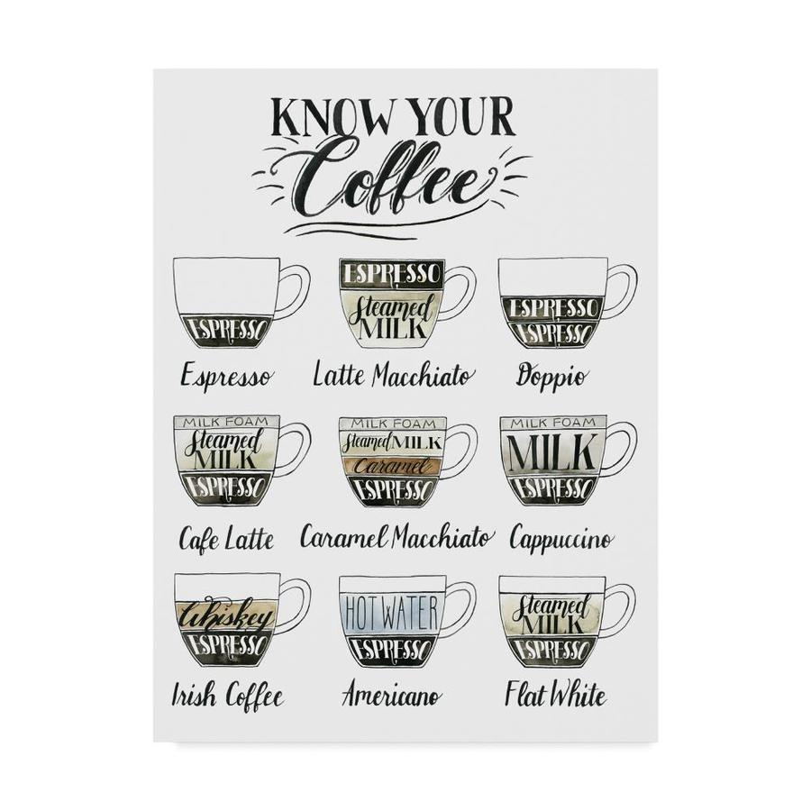 Trademark Fine Art Grace Popp Coffee Chart 18x24 Canvas Art In The Wall Art Department At Lowes Com