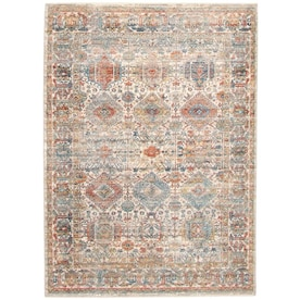 Ecarpetgallery Bolivia Yalameh 6 X 9 Blue Grey Indoor Distressed Overdyed Bohemian Eclectic Area Rug In The Rugs Department At Lowes Com