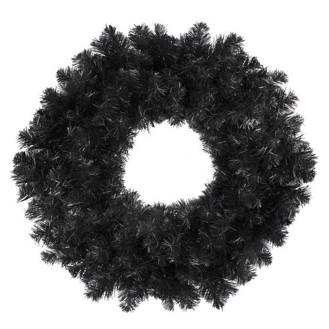 Northlight 24 Black Colorado Spruce Artificial Christmas Wreath Unlit
